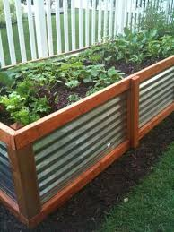construction of a raised garden bed on