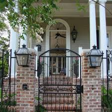 Iron And Brick Fence Houzz