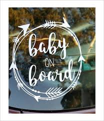 Free Shipping Baby On Board Decal Baby On Board Sticker Car Decals Car Decals Vinyl Decals