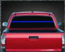 Thin Blue Line Rear Window Decal Sticker Custom Sticker Shop
