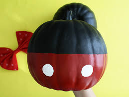DIY Minnie Mouse & Mickey Mouse Pumpkins