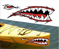 Shark Teeth Mouth Decal Stickers Kayak Canoe Jet Ski Hobie Dagger Ocean Boat A1 Kayak Decals Kayak Fishing Gear Kayak Fishing