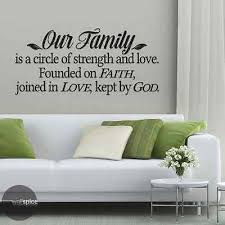 Our Family Is A Circle Of Strength And Love Vinyl Wall Decal Sticker Ebay