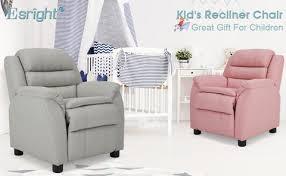 Kids Recliner Chair Children Recliner Pu Leather Armchair For Toddler Homhum