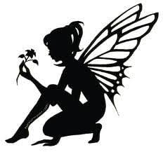 Amazon Com Fairy With Flower Vinyl Car Decal White 5 By 5 Inches Automotive