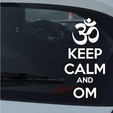 Keep Calm And Om Vinyl Wall Decal Car Sticker Walls2lifedecals