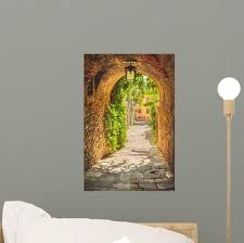 Old Streets Of Greenery A Medieval Tuscan Town Wall Decal Wallmonkeys Com