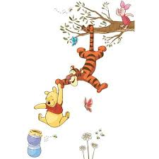 Winnie The Pooh Swinging For Honey Peel And Stick Giant Wall Decal Target