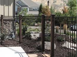 Metal Fence With Trex Posts Trex Fencing Fence Around Pool Landscape Timbers