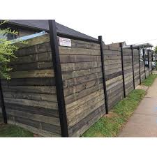 Slipfence Slipfence Horizontal System 1 5 In X 1 5 In X 5 83 Ft Black Aluminum Wood Fence Rail In The Wood Fence Rails Department At Lowes Com