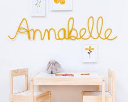 Wire Word Decor Nursery Name Art Kids Room By Thecolorfulberry