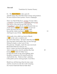 Traduzione di Beowulf by HEANEY - Docsity