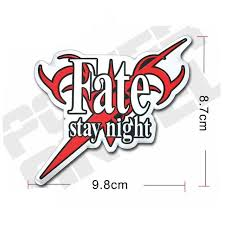 10 08 Waterproof Fate Stay Night Anime Adhesive Decal Sticker For Phone Laptop Motorcycle Car Fridg Fate Stay Night Anime Fate Stay Night Stay Night