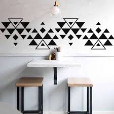 Boho Triangles Wall Sticker Southwest Vinyl Wall Decals Geometric Home Room Decal Triangle Sticker Geometric Wall Decor G46 Wall Stickers Aliexpress