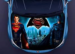 Amazon Com Superman Batman Full Color Sticker Car Hood Vinyl Car Vinyl Graphics Gc 2295 Baby
