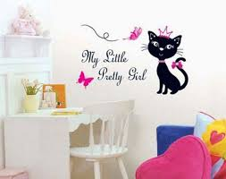 More Than 50 Cool Ideas For Cat Themed Room Design Digsdigs Diy Wall Decals Wall Stickers Home Room Themes