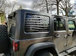 Auto Parts And Vehicles Jeep Wrangler American Flag Back Window Decals Hard Top Jeep Wrangler Decals Car Truck Graphics Decals