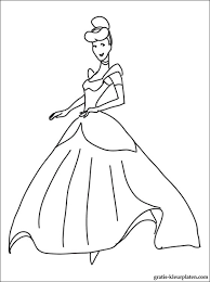 Kleurplaat Van Prinses Assepoester Gratis Kleurplaten