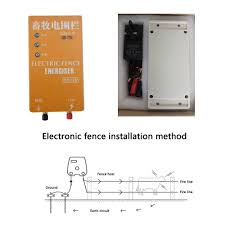 Electric Fence Energizer Solar Charger High Voltage Pulse Controller Animal Poultry Farm Electric Fencing Shepherd 10km Xsd 280b Fencing Trellis Gates Aliexpress