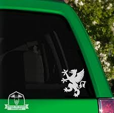 Amazon Com Grain To Glass Designs Griffin Vinyl Car Decal 4 Green Automotive