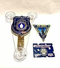 Card Window Decal Nj Ny Fl Il Ca Fop Njsp Nypd Pba Police Car Window Shield