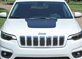 2018 2020 Jeep Cherokee Hood Decal T Hawk Trailhawk Center Stripe Auto Motor Stripes Decals Vinyl Graphics And 3m Striping Kits