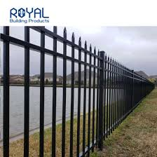 China Decorative Cast Security Extruded Modern Design Garden Enging No Dig Aluminum Fences China Aluminum Garden Ending Fence And Aluminum Tube Fence Price
