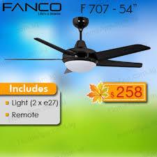 fanco f707 ceiling fan 54 inch with