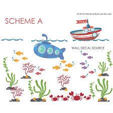 Wall Decal Source Boat Submarine Reusable And Removable Nursery Monogram Wall Decal Wayfair