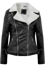 womens faux leather aviator faux furs
