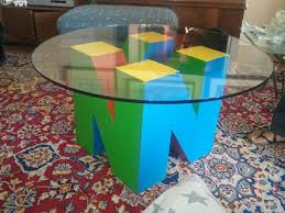 awesome nintendo 64 coffee table pic