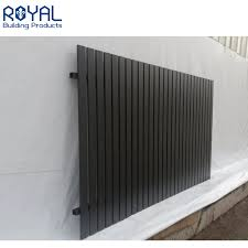 China Privacy Protection Garden Black Decorative Metal Fence Panels Aluminum Slat Fence China Slat Fence And Picket Fence Price