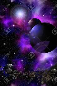 Fantástico Paisaje Espacial. Viaje A Través De La Galaxia. Misteriosos  Mundos En El Espacio Profundo. Fotos, Retratos, Imágenes Y Fotografía De  Archivo Libres De Derecho. Image 90464885.