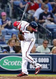 Braves' Adonis Garcia is hit by a pitch... - Atlanta Braves News ...