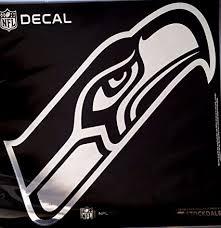 Amazon Com Stockdale Seattle Seahawks Large 12 Silver Metallic Vinyl Auto Decal Nfl Football Sports Outdoors