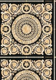 versace black herie print wallpaper