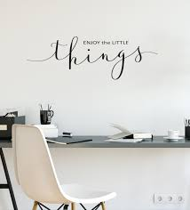 Vinyl Wall Decal Enjoy The Little Things Quote Inspiration Phrase Word Wallstickers4you