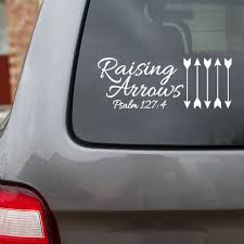 Raising Arrows Car Decal Designed By His Child Com Five Arrows Representing Five Children Family Car Decals Raising Arrows Car Decals