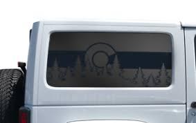 State Of Colorado Flag Design Decal Fits Jeep Wrangler Jk 2 Door Window Hs33c Ebay