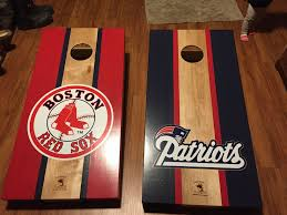 New England Patriots Cornhole Diy Cornhole Boards Cornhole Boards Designs Corn Hole Diy