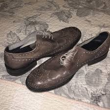 mens perforated leather dress shoe