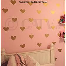 Amazon Com Hearts Assorted Set Of 50 Vinyl Decals Gold Home Kitchen