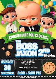 The Boss Baby Cookies Birthday Invitation Peppa Pig Para