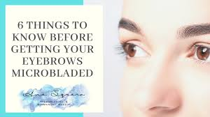 eyebrows microbladed