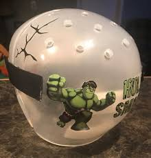 Incredible Hulk Cranial Band Decoration From High Quality Vinyl For Baby Helmets