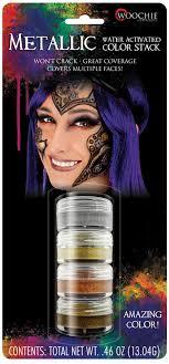 metallic water activated makeup stack