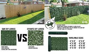 Amazon Com Tang Sunshades Depot 6 Ft X 10 Ft Artificial Faux Ivy Privacy Fence Screen Leaf Vine Decoration Panel With 130 Gsm Mesh Back Garden Outdoor