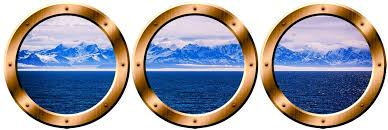 Amazon Com Vwaq Wall Portholes Cruise Ship Window Decals Ocean View Decor Spw9 20 Diameter Bronze Home Kitchen