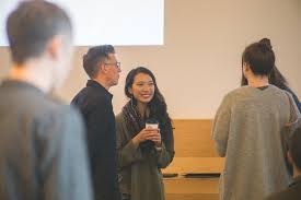 AIGA Portland – Career Tools – Duane King talking with attendees   AIGA  Portland