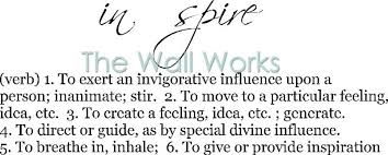 Inspire Definition Wall Sticker Vinyl Decal The Wall Works